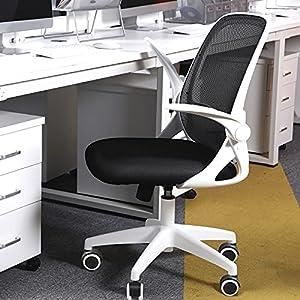 KERDOM 椅子 テレワーク オフィスチェア 人間工学椅子 デスクチェア メッシュバックチェア 腰に良い 学習 おしゃれ 事務 人気 白…