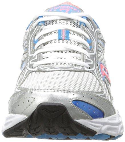 Saucony Grid Cohesion 7 - Zapatillas de running para mujer, color gris / blanco / azul / rojo