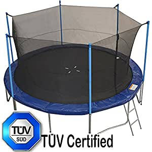 Amazon Com Zupapa 14 Ft Tuv Approved Trampoline With Pole