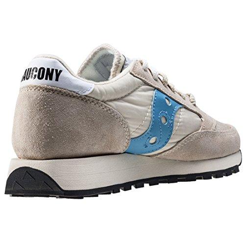 Saucony Beige/Sky Blu Jazz Original Vintage Sneaker Beige Blue