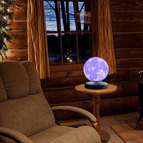 LEVILUNA 7.1'' /16 Colors Magnetic Levitating Moon lamp, 3D Seamless Printed &Touch Control, Magic Night Light, Creative Gifts for him, Best Business for Your Customer (7.1''/16colors) by Zeegine (Image #8)