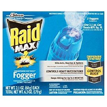 Raid Max Concentrated Deep Reach Fogger (2.1 Ounces, 3 count) ()