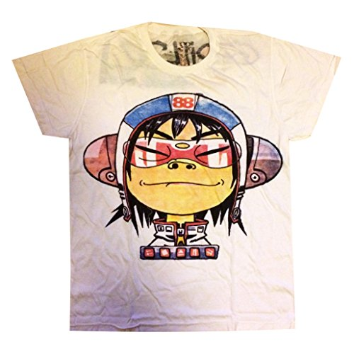 Jigg And Roll Gorillaz Noodle T-Shirt Large White