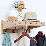 Coat hooks Wall-mounted coat rack Solid wood Garment rack,Art Original Modern-C