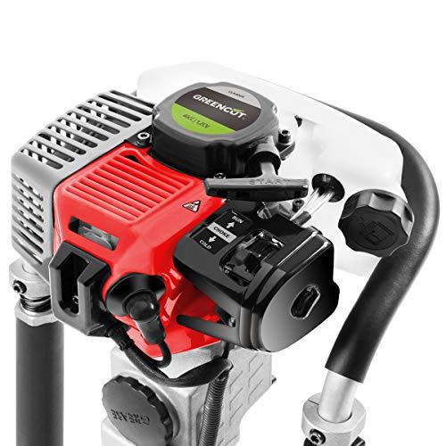 Greencut CLA40000 - Clavadora de estacas/postes con motor de 2 tiempos de 40cc y 1,2cv, frecuencia de impactos por minuto 1500-2000BPM