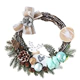 Christmas Wreath Door Wall Ornament Garland,Outsta Party Decoration for The Front Door, Home Décor 11.8'' (B(11.8''))