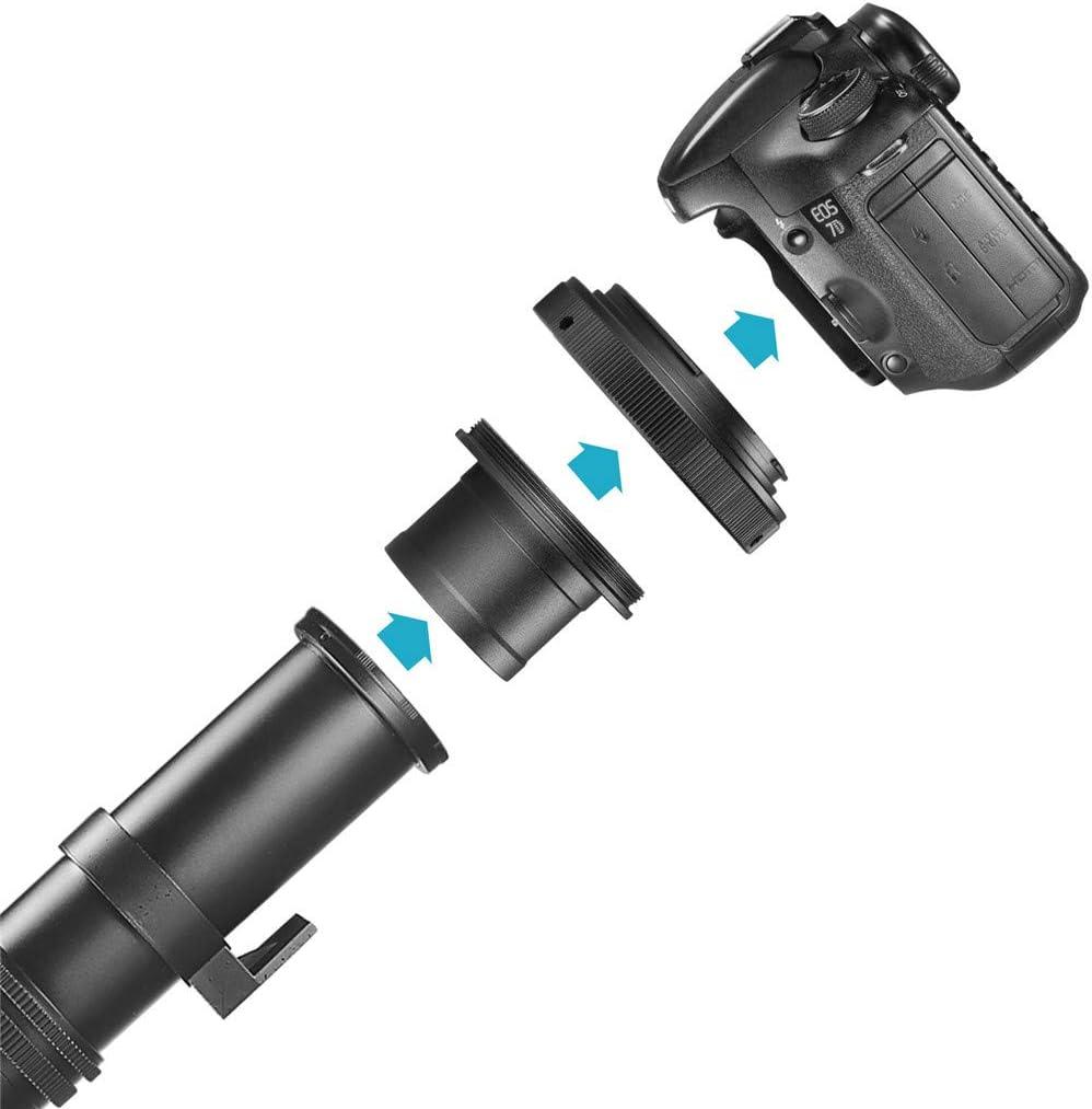 50D 60D 350D 450D 500D 1D Mk III SM SunniMix 1.25 inches Telescope T Adapter with T2 Mount Ring for Canon DSLR//SLR Camera 5D 5D Mark II