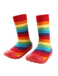 FireFrog Infant Baby Cartoon Patterned Soft Rubber Bottom Anti-slip Floor Socks Boots
