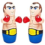 Bop Bag 3D Boxers 36'' 2 Pack by Intex - MMA Fighter Wrestling Kick Boxing Tackle Buddy Punching Bop Bag Fun Kids Indoor Outdoor Toy