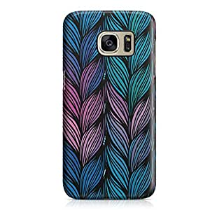 Samsung S7 Case Multicolor Braids Pattern Hard Plastic Tough Samsung S7 Cover Wrap Around