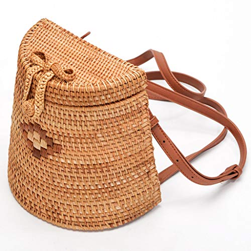 Women's Bag, Fashion Bag - Summer Women's Bag - Hand-Woven Rattan Bag - Crossbody Beach Bag by BHM (Image #7)