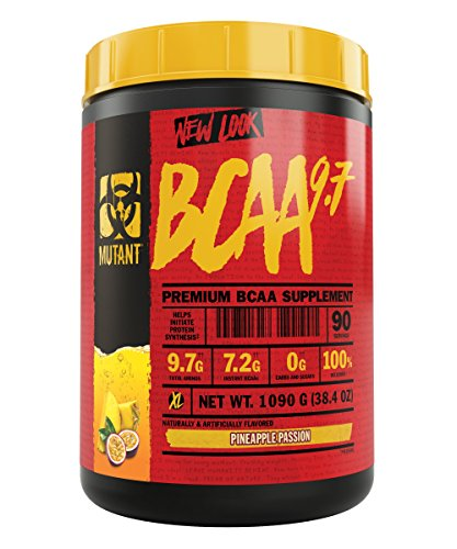 (Mutant BCAA 9.7 Supplement BCAA Powder with Micronized Amino Energy Support Stack, 1044g - Pineapple Passion)