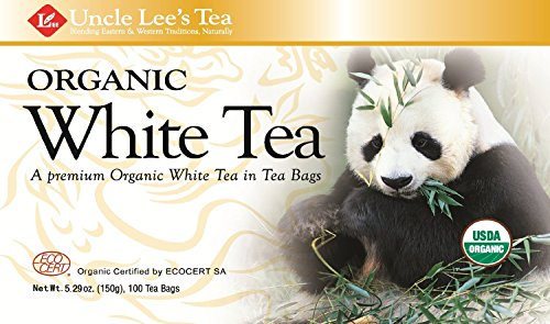Uncle Lee's Tea Organic White Tea, Tea Bags, 100-Count Boxes