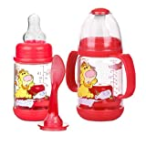 Baby : Nuby 2 Pack Nurtur Care Infa Feeder Set, 4 Oz Infant Feeder RED