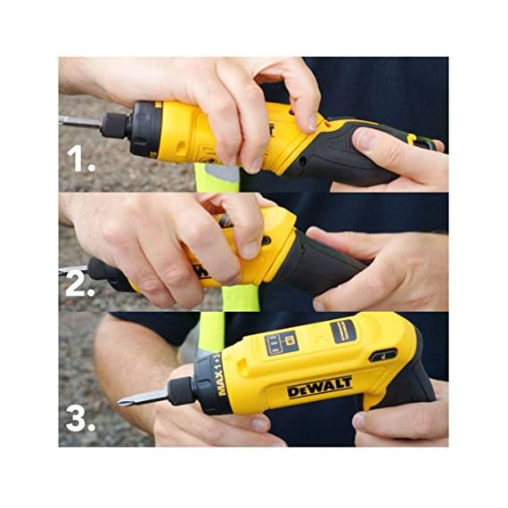 DEWALT DCF680G2-GB 7.2V 6.35 mm XR Li Ion Cordless Motion Activated Screwdriver with 2x1.0 Ah batteries included 6