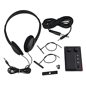 bqlzr electric violin silent eq pickup piezo w headphone and plug hole cable set. Black Bedroom Furniture Sets. Home Design Ideas