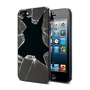 Broken Glass - Apple iPhone 4/4s Black Case