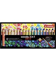 Buntstift, Wasserfarbe & Wachsmalkreide - STABILO woody 3 in 1