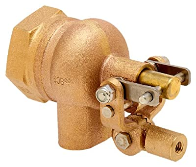 """Robert Manufacturing R605T High Turbo Series Bob Red Brass Float Valve, 1-1/4"""" NPT Female Inlet x FreeFlow Outlet, 180 gpm at 85 psi Pressure by Control Devices"""