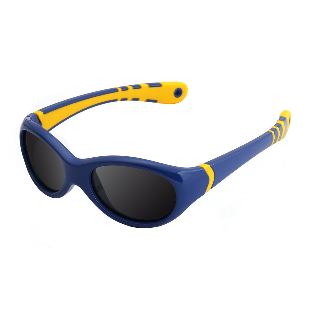 Rubber Flexible Sunglasses for Kids Toddler Polarized Ages 3-10 TPEE Strap Eyewear