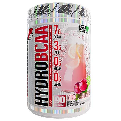 ProSupps HydroBCAA BCAA/EAA Full Spectrum Matrix, 7g BCAAs, 3g EAAs, 0g Sugar, 0g Carbs, 90 Servings, (Pink Lemonade Flavor)