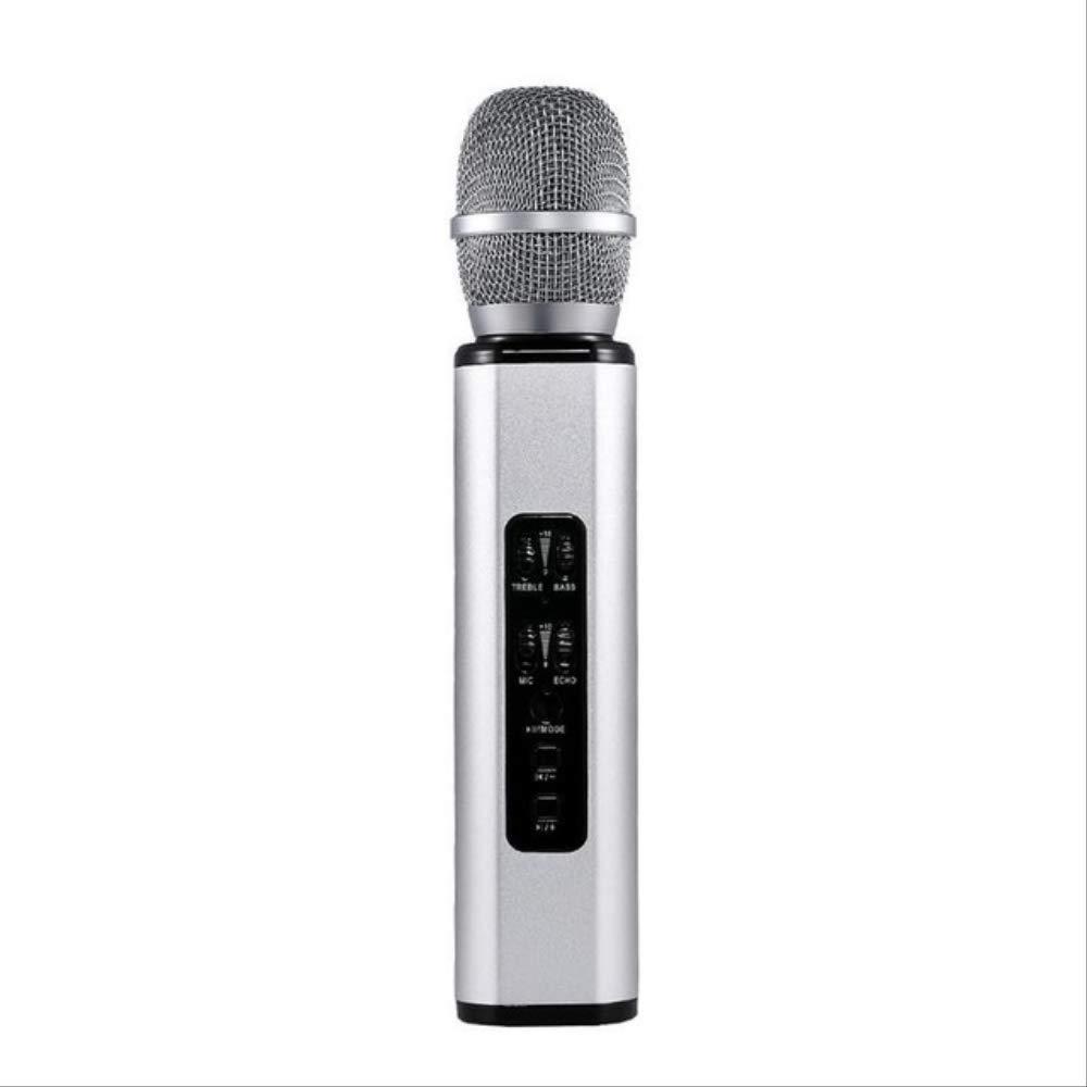 RRYM Micrófonos Micrófono Bluetooth Karaoke Multifuncional Con ...