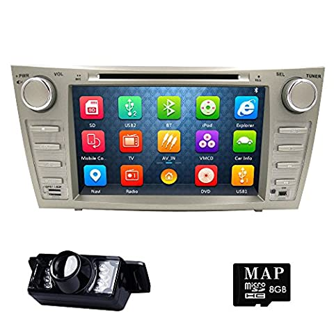 Hot Car Stereo Fit For Toyota Camry 2007 2008 2009 2010 2011 8 Inch HD Capacitive Touch Screen GPS Navigation 3G Bluetooth Backup (2011 Camry Backup Camera)