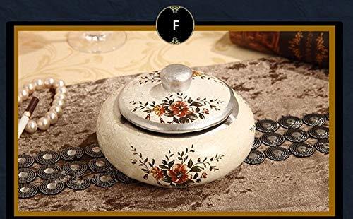 Goonpetchkrai.rapat7498 Ashtray-4 Pattern Resin Ashtray Home Party Decoration for Gift - Cigarette Accessory]()