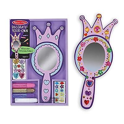 Melissa & Doug Decorate-Your-Own Wooden Princess Mirror: Melissa & Doug: Toys & Games
