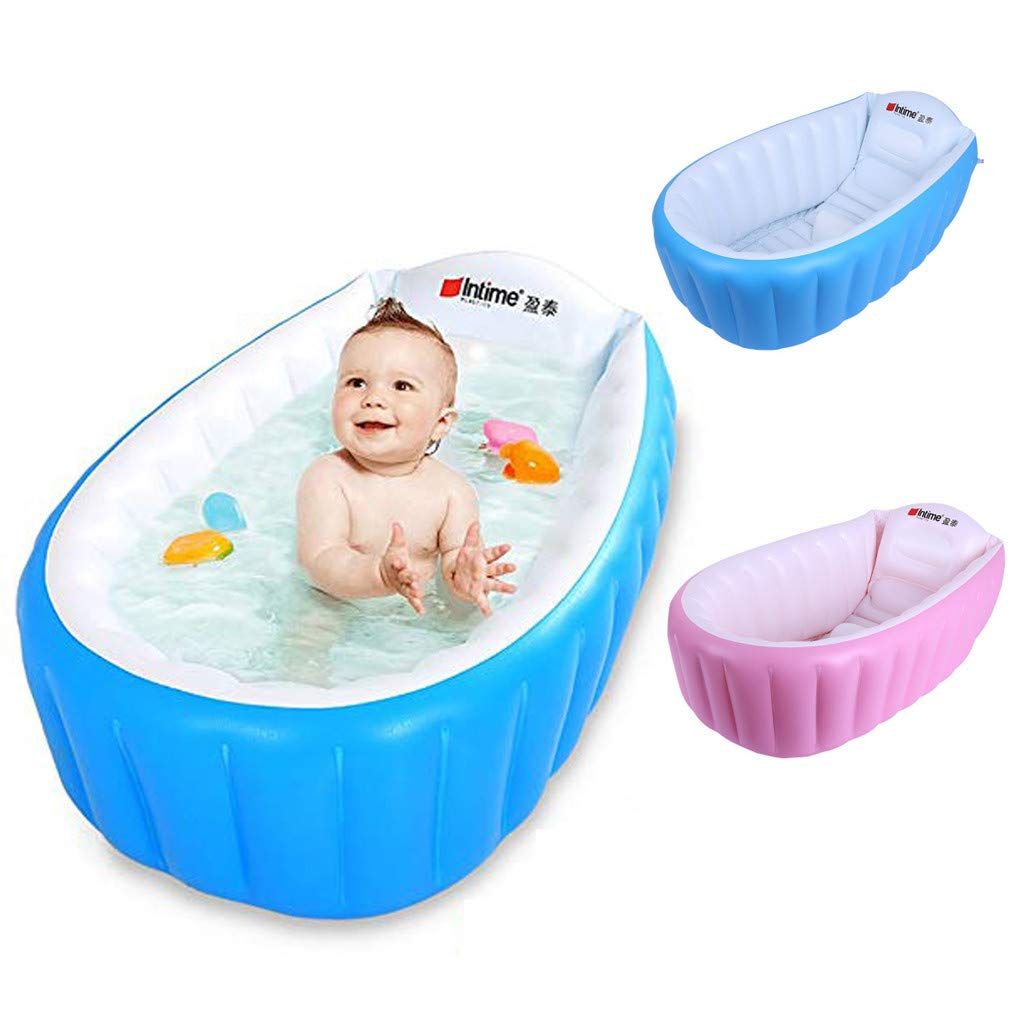 Amazon.com: CapsA - Bañera hinchable para bebé, portátil ...