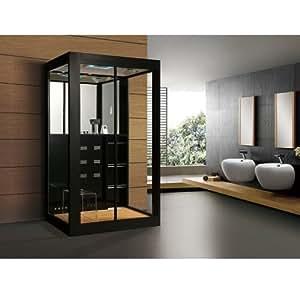 Home Deluxe Cabina de Ducha Black Luxory XL - Templo de ducha y Sauna de vapor