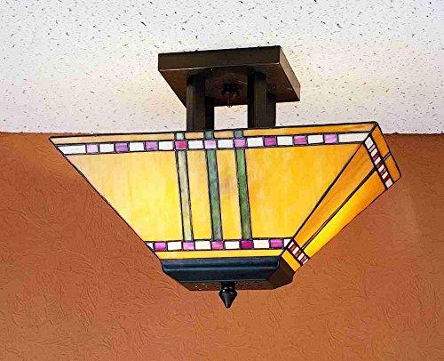 Meyda Tiffany 31243 Prairie Corn Oblong Flush Mount Light Fixture, 16