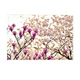 NYMB Spring Decor Bath Rug, Plum Blossom On Tree Branch, Non-Slip Doormat Floor Entryways Indoor Front Door Mat Bathroom Rugs Memory Foam, Kids Bath Mat, 15.7x23.6in