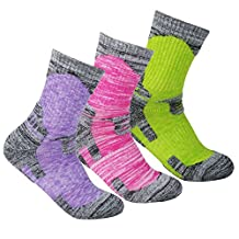 YUEDGE 3 Pairs Women's Wicking Outdoor Multi Performance Hiking Cushion Socks