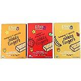 Ellas Kitchen Nibbly Fingers Bundle: Magoes + Carrots, Apples + Strawberries, Bananas + Raisins(1 Box Each)