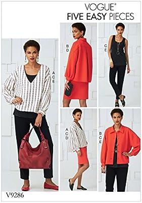 Vogue Patrones de Costura para Top, Falda y Pantalones, Tejido ...