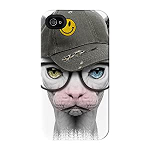 Smiley Sphynx Full Wrap High Quality 3D Printed Case for iPhone 4 / 4s by Gangtoyz + FREE Crystal Clear Screen Protector