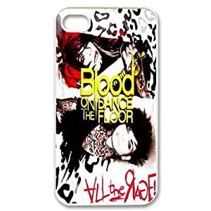 Gators Florida USA-6 Music Band Blood on the Dance Floor Print White Case With Hard Shell Cover for Apple iPhone 4/4S