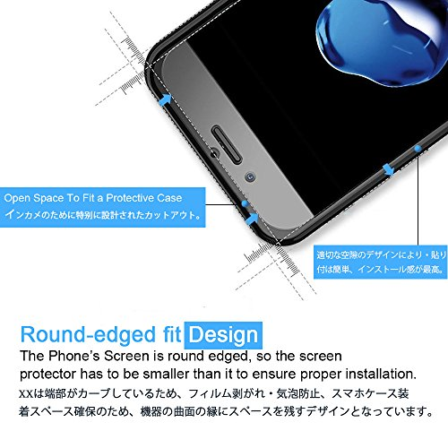 Gosento OnePlus 5T フィルム 2.5Dラウンドエッジ加工 日本旭硝子素材AGC 高透過率 強化ガラスフィルム 硬度9H OnePlus 5T 対応 (2枚)