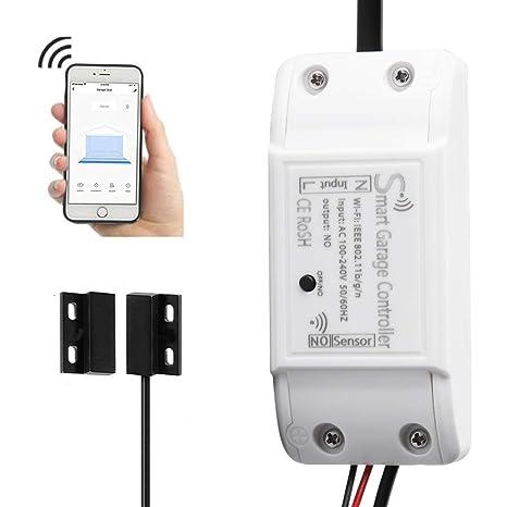 Amazon.com: WiFi Smart Garage - Controlador de puerta de ...