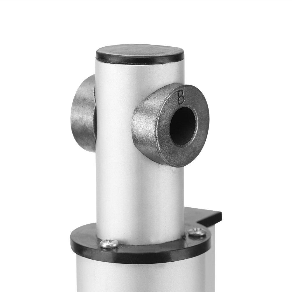 200mm Actuador Lineal El/éctrico Cilindro 200mm M/áximo Actuador de Motor Resistente para Automatizaci/ón M/édica 12V DC
