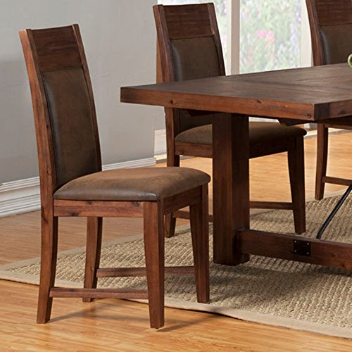 Alpine Furniture Pierre Dinning Chair (Set of 2) Alpine Leather Chair