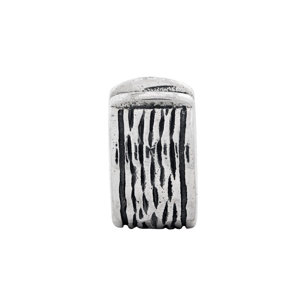 Sterling Silver Jewelry Gripper Beads Solid 5.45 mm 11.82 mm Reflections Hinged Clip Bead