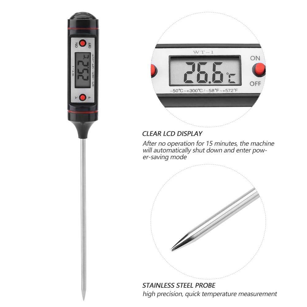 Digital Thermometer WT1 BBQ Lebensmittel Fleisch Temperatur Anzeige Stift Thermometer Wasser Dichte Koch Temperatur Tester