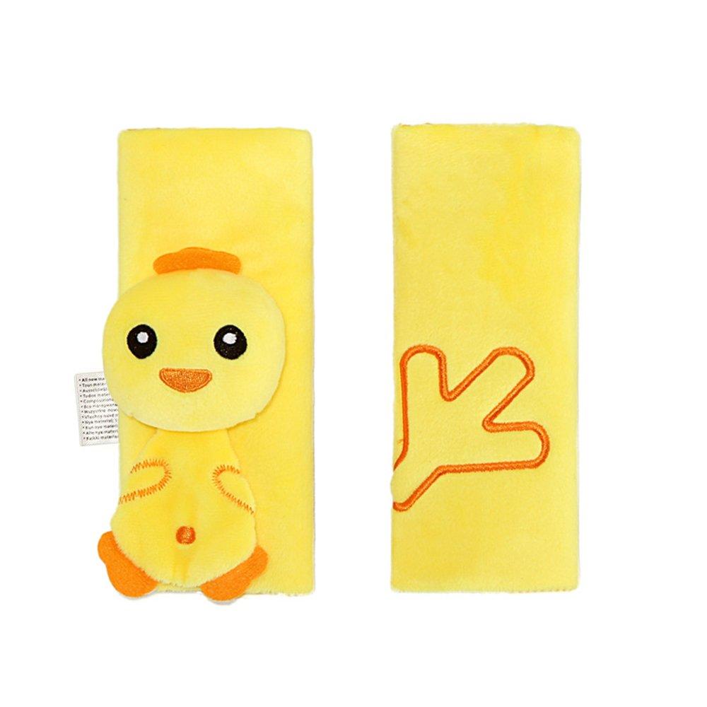 INCHANT Rilievo di spalla//cuscino di spalla della copertura della cinghia di sicurezza della cinghia di sicurezza del fumetto infantile dei capretti pollo giallo