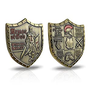 AtSKnSK Put On The Whole Armor of God Challenge Coin Eph 6:13-17 3D Commemorative Collection Item by Southkingze
