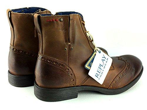 Rejeter Corn Tan Hommes Side Zip Mid Cheville En Cuir Armée Chaussures Bottes