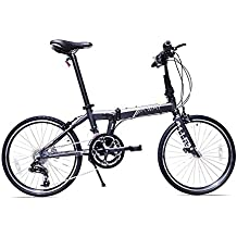 Allen Sports XWay Aluminum 20 Speed Folding Bicycle, Stone, 12-Inch/One Size