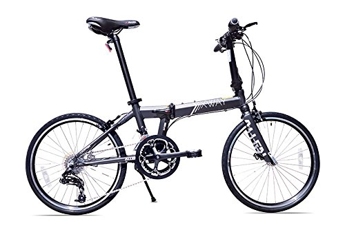 Allen Sports XWay Aluminum 20 Speed Folding Bicycle, Stone