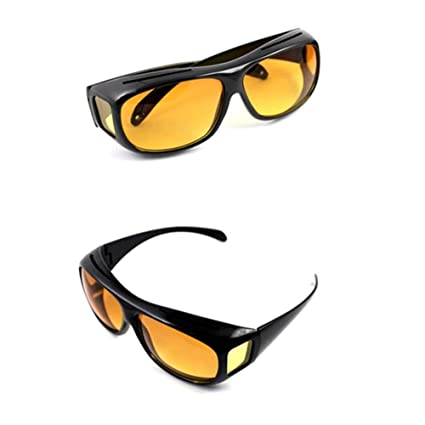 7221427af9 Image Unavailable. Image not available for. Color  HD Vision Driving  Sunglasses Wrap Around Glasses Unisex Anti Glare UV Protection